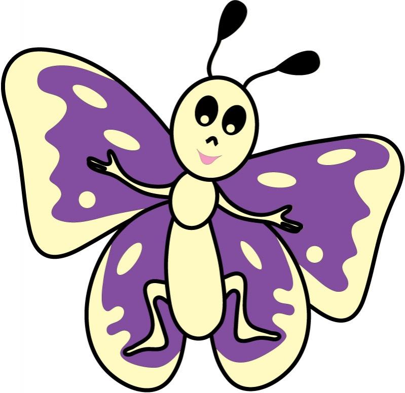 DĚTSKÉ samolepky na zeď - Motýlek