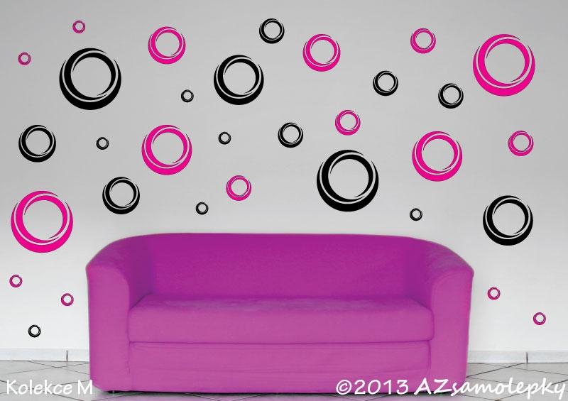 MODERNÍ samolepky na zeď - Samolepky na zeď - Moderní DUO bublinky