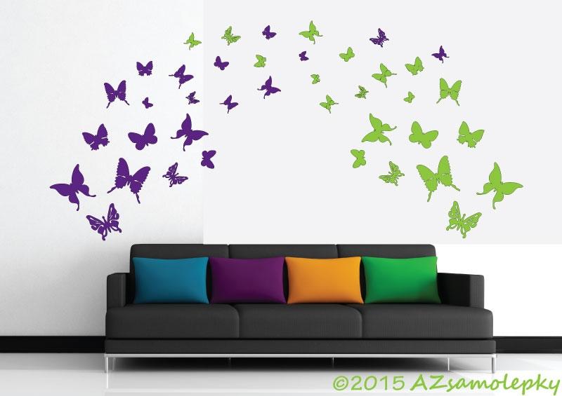 MODERNÍ samolepky na zeď - Samolepky na zeď - DUO motýlci