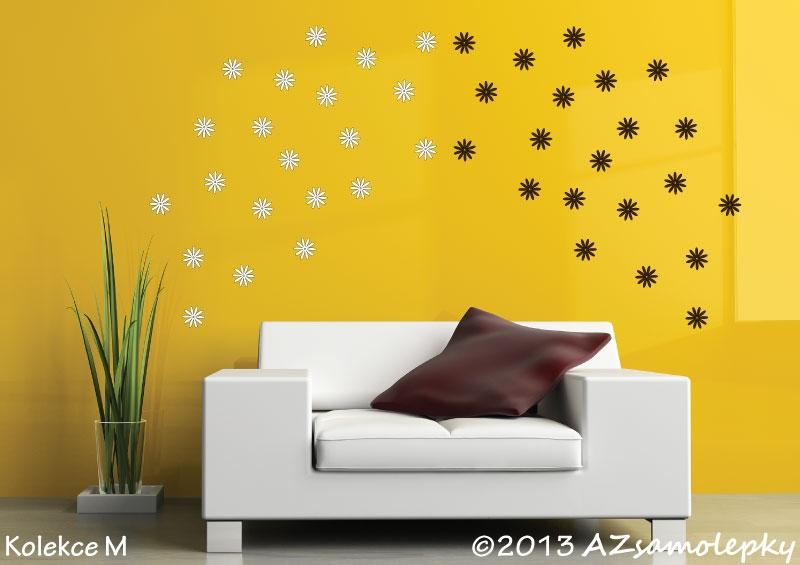 MODERNÍ samolepky na zeď - Samolepky na zeď - DUO mini-kytičky