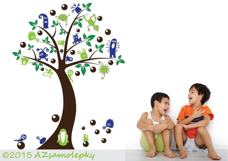 DĚTSKÉ samolepky na zeď - Dětské samolepky na zeď - Bubákový strom