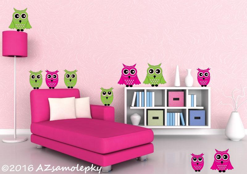 DĚTSKÉ samolepky na zeď - Dětské samolepky na zeď - Roztomilé sovy