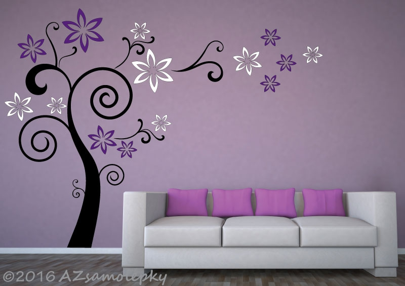 STROMY - samolepky na zeď - Samolepky na zeď  - Květinový strom FUTURE