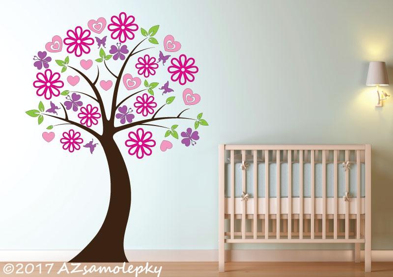DĚTSKÉ samolepky na zeď - Dětské samolepky na zeď - Strom pro princezny