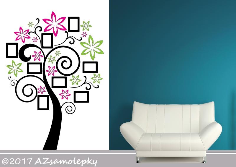 STROMY - samolepky na zeď - Samolepky na zeď - Květinový FOTO strom