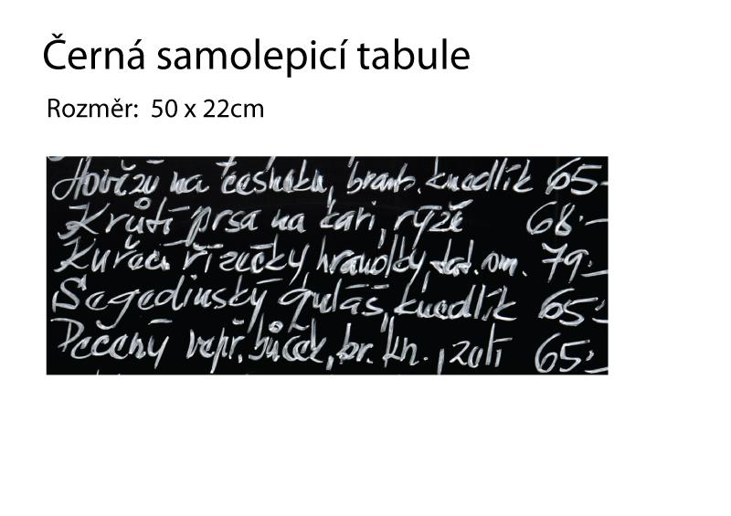 TABULE nalepovací - Samolepicí černá tabule - 50x22cm