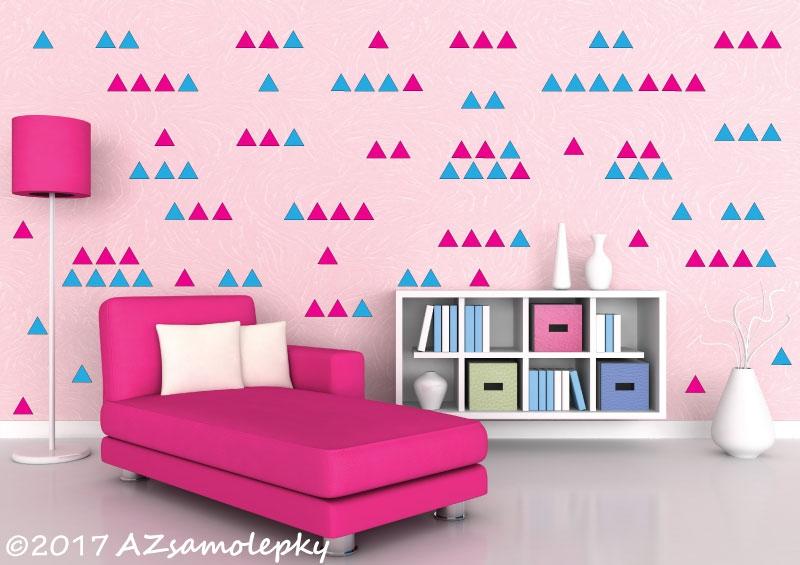 DĚTSKÉ samolepky na zeď - Dětské samolepky na zeď - DUO trojúhelníčky