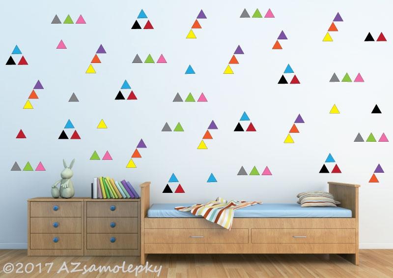 DĚTSKÉ samolepky na zeď - Dětské samolepky na zeď - Kolekce trojúhelníčků