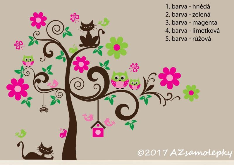 DĚTSKÉ samolepky na zeď - Dětské samolepky na zeď - Veselý strom