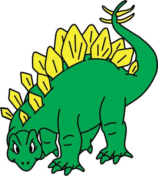 DĚTSKÉ samolepky na zeď - Stegosaurus
