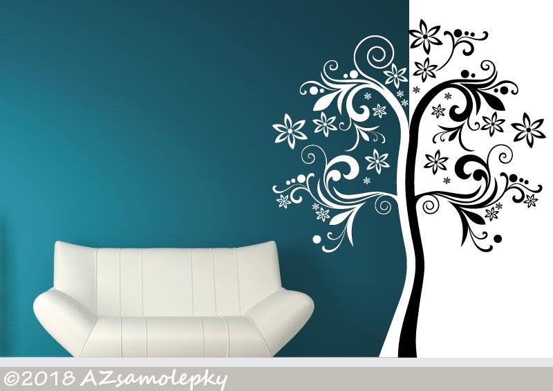 STROMY - samolepky na zeď - Samolepky na zeď - Strom DUO Ornament