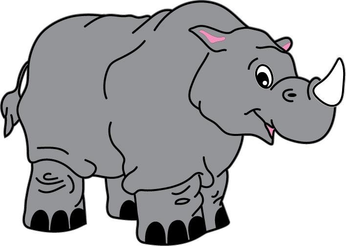 DĚTSKÉ samolepky na zeď - Nosorožec