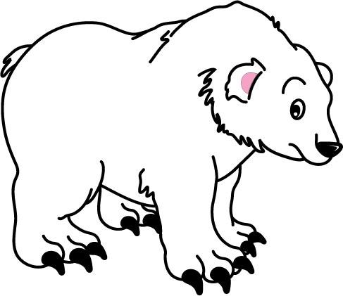 DĚTSKÉ samolepky na zeď - Lední medvěd