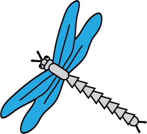 DĚTSKÉ samolepky na zeď - Dino - Vážka