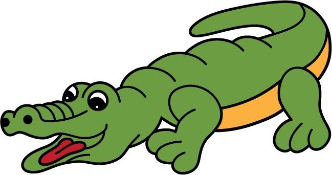 DĚTSKÉ samolepky na zeď - Krokodýl