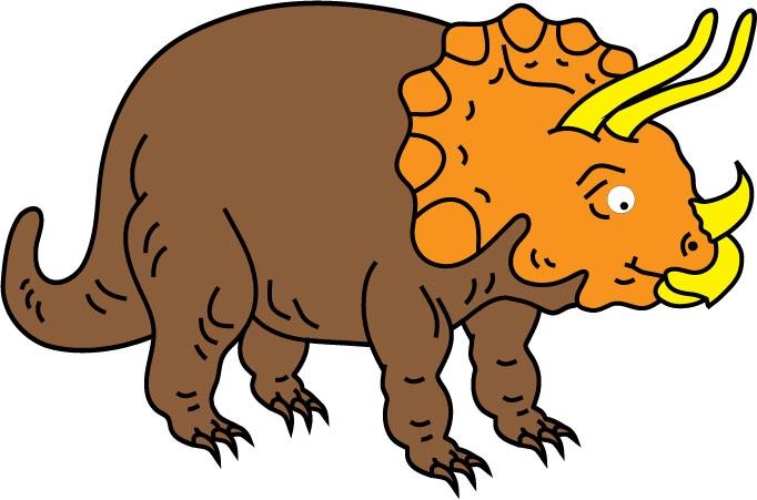 DĚTSKÉ samolepky na zeď - Triceratops