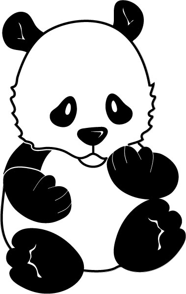 DĚTSKÉ samolepky na zeď - Panda
