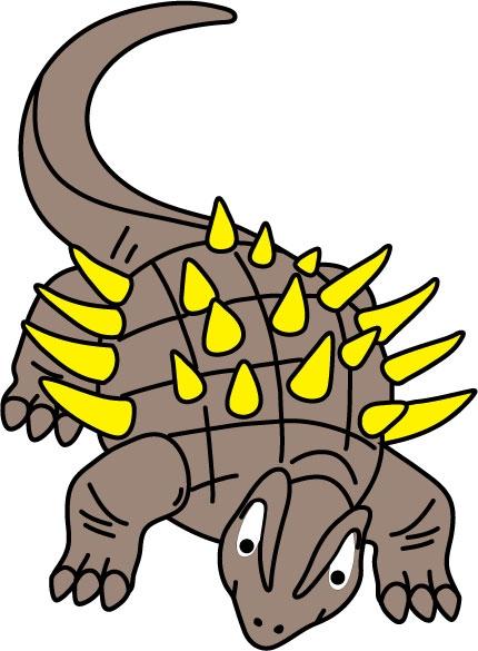 DĚTSKÉ samolepky na zeď - Ankylosaurus
