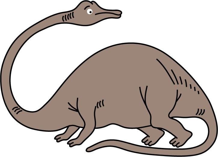 DĚTSKÉ samolepky na zeď - Diplodocus