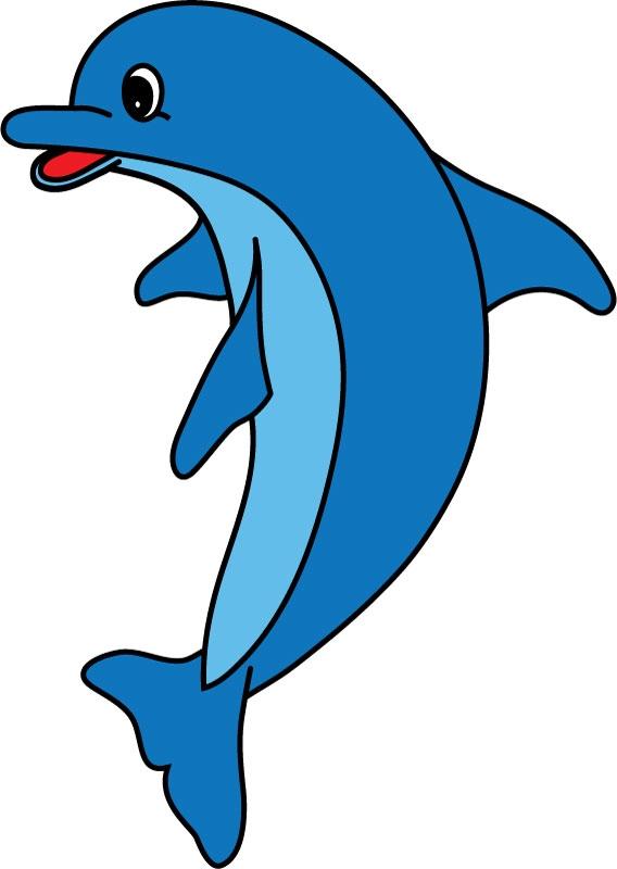 DĚTSKÉ samolepky na zeď - Dětské samolepky na zeď - Mořský svět - Delfín I