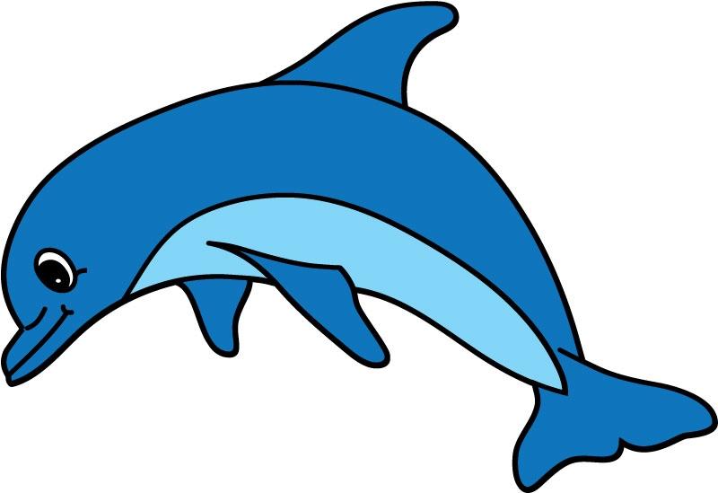 DĚTSKÉ samolepky na zeď - Dětské samolepky na zeď - Mořský svět - Delfín II