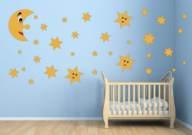 DĚTSKÉ samolepky na zeď - Dětské samolepky na zeď - Noční obloha