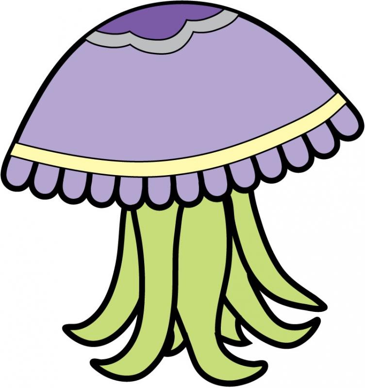 DĚTSKÉ samolepky na zeď - Dětské samolepky na zeď - Mořský svět - Medúza