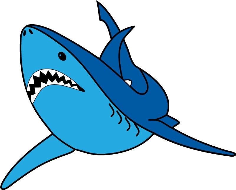 DĚTSKÉ samolepky na zeď - Dětské samolepky na zeď- Mořský svět - Žralok I