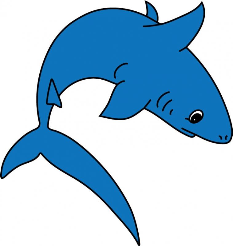 DĚTSKÉ samolepky na zeď - Dětské samolepky na zeď - Mořský svět - Žralok II