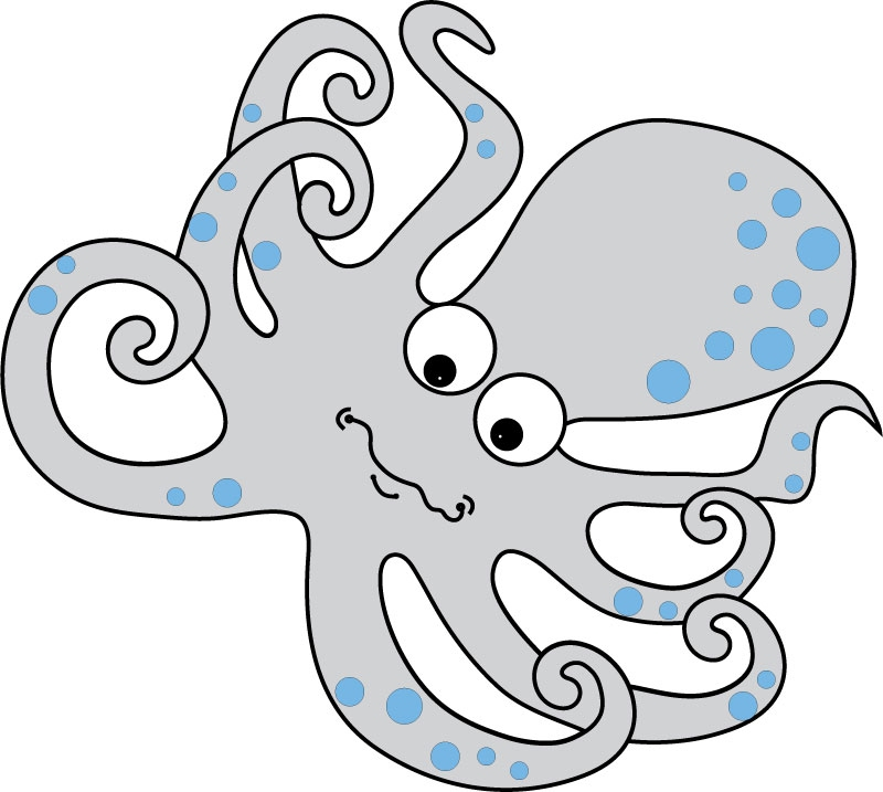 DĚTSKÉ samolepky na zeď - Dětské samolepky na zeď - Mořský svět - Chobotnice