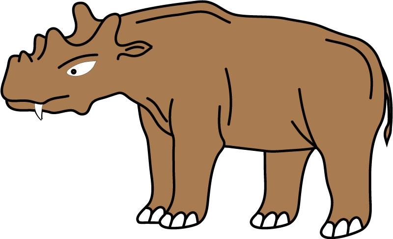 DĚTSKÉ samolepky na zeď - Uintatherium