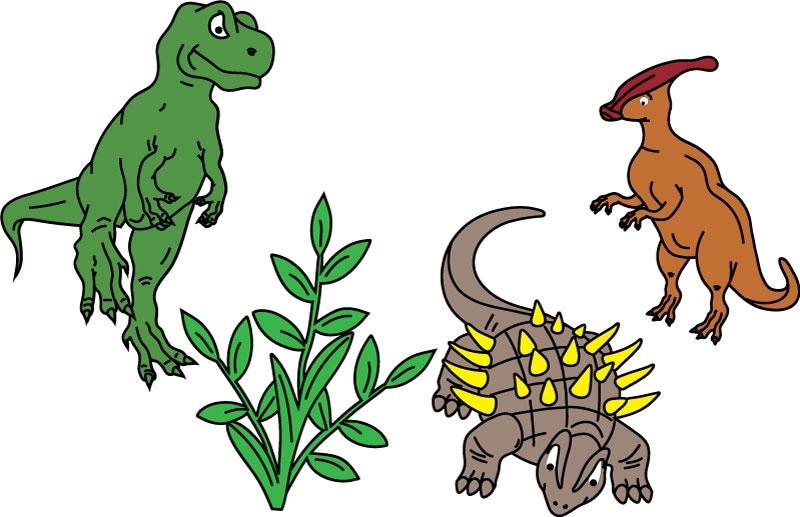 DĚTSKÉ samolepky na zeď - Dinosauři - kolekce S