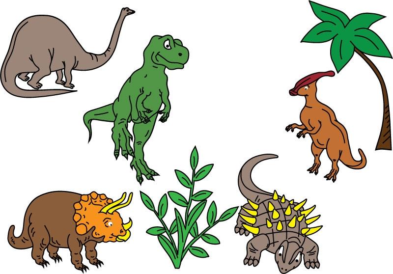 DĚTSKÉ samolepky na zeď - Dinosauři - kolekce M