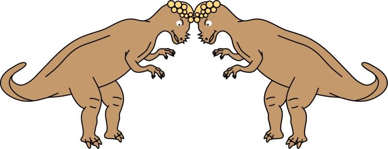 DĚTSKÉ samolepky na zeď - Souboj pachyosaurů