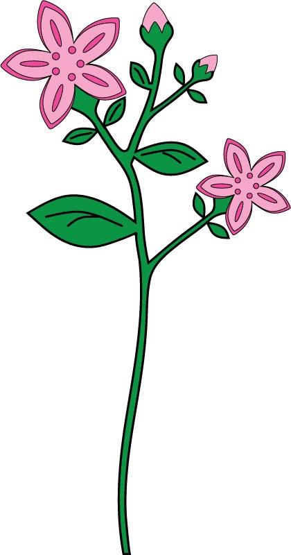 DĚTSKÉ samolepky na zeď - Růžová kytka