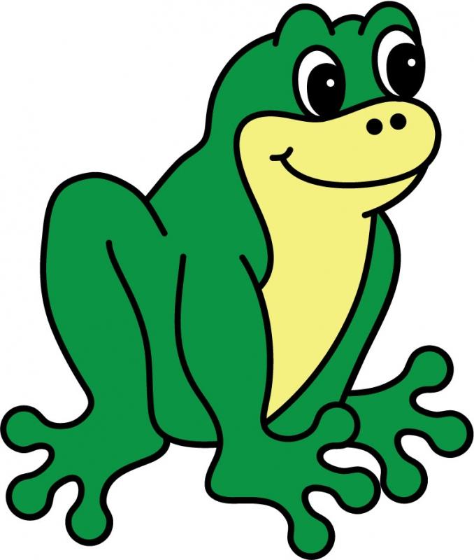DĚTSKÉ samolepky na zeď - Žabka