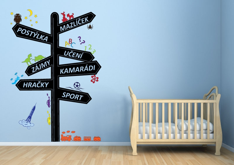 DĚTSKÉ samolepky na zeď - Dětské samolepky na zeď - Rozcestník pro kluky