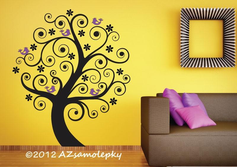 STROMY - samolepky na zeď - Samolepky na zeď - Jarní strom