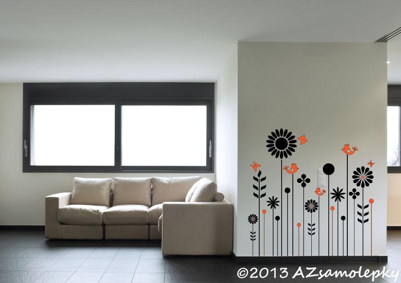 ROSTLINY - samolepky na zeď - Samolepky na zeď - Květinový plot