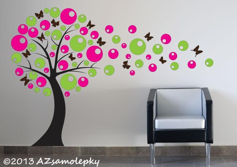 STROMY - samolepky na zeď - Samolepky na zeď - Bublinkový DUO strom