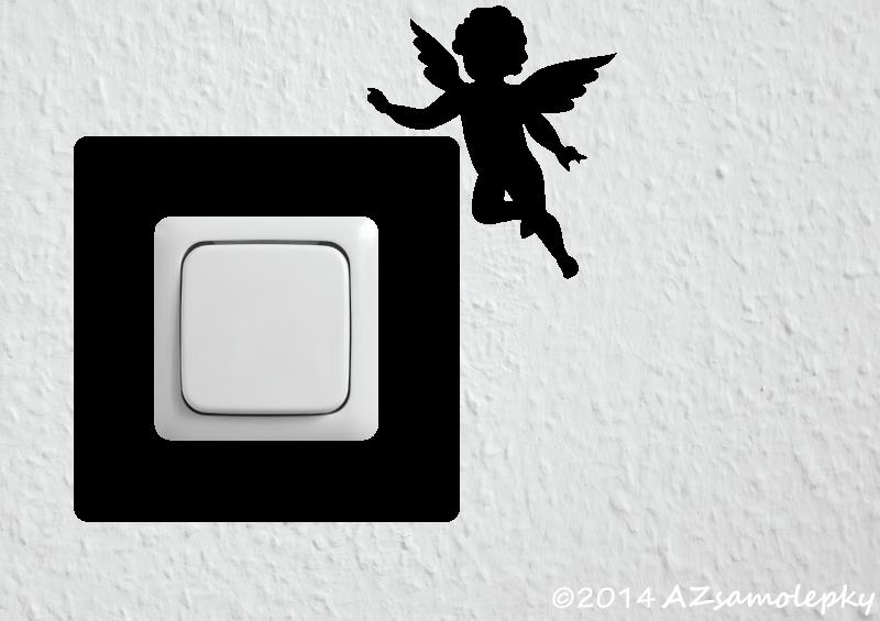 Samolepky pod VYPÍNAČ - Samolepky pod vypínač - Andělíček