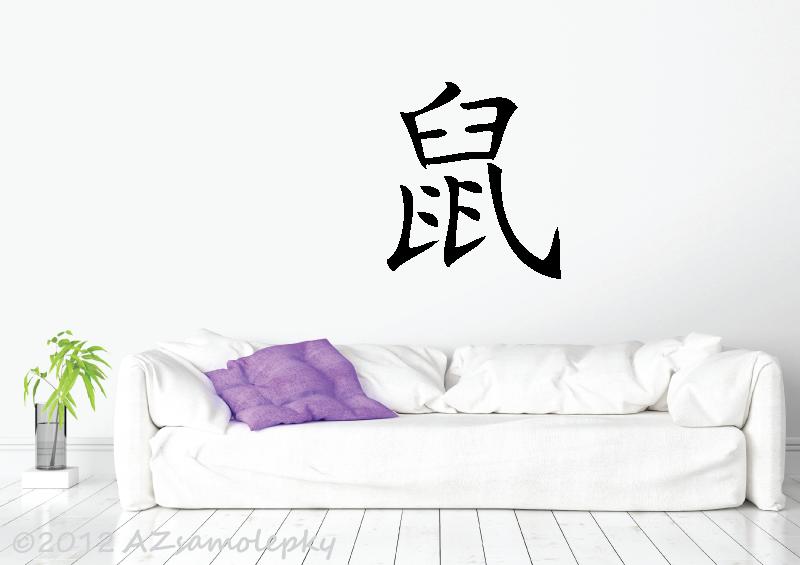 HOROSKOP samolepky na zeď - Čínské znamení zvěrokruhu - Krysa