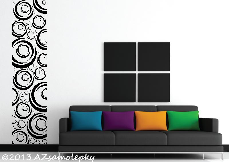 MODERNÍ samolepky na zeď - Design pás - Moderní bublinky