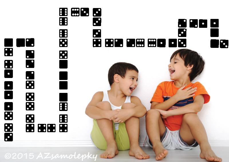 DĚTSKÉ samolepky na zeď - Dětské samolepky na zeď - Domino