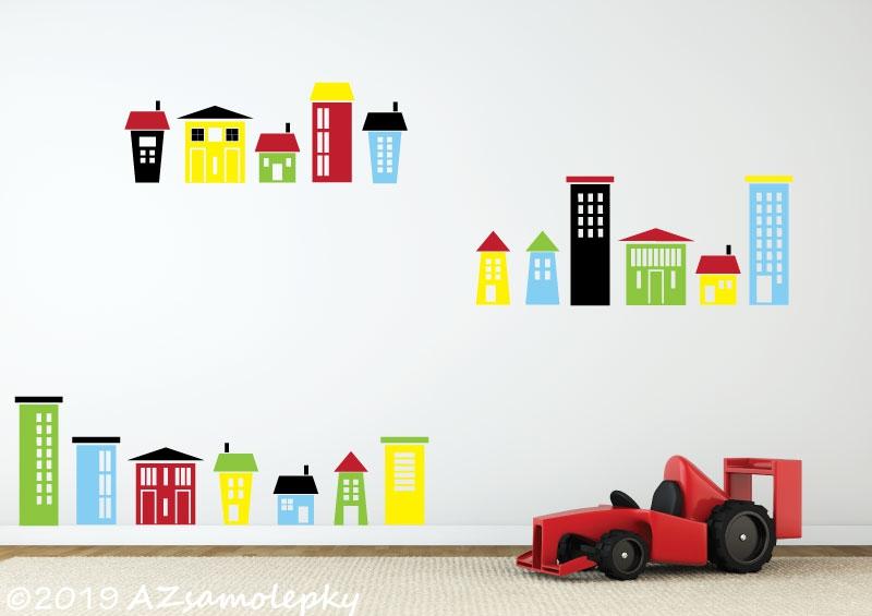DĚTSKÉ samolepky na zeď - Dětské samolepky na zeď - Domky a domečky