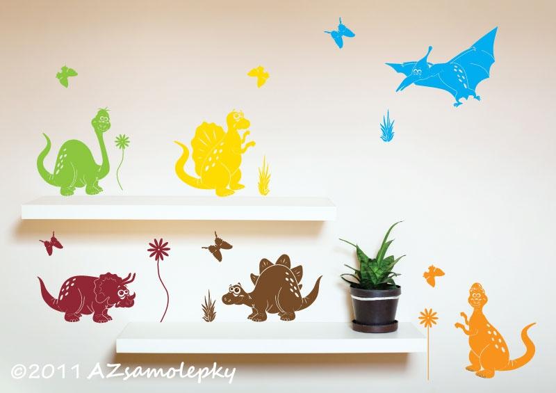 DĚTSKÉ samolepky na zeď - Dětské samolepky na zeď - Kolekce dinosaurů