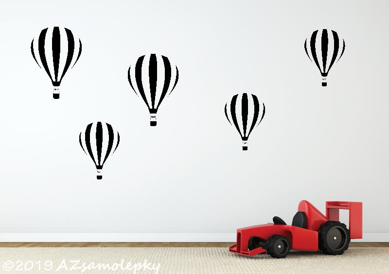 DĚTSKÉ samolepky na zeď - Dětské samolepky na zeď - Létající balóny