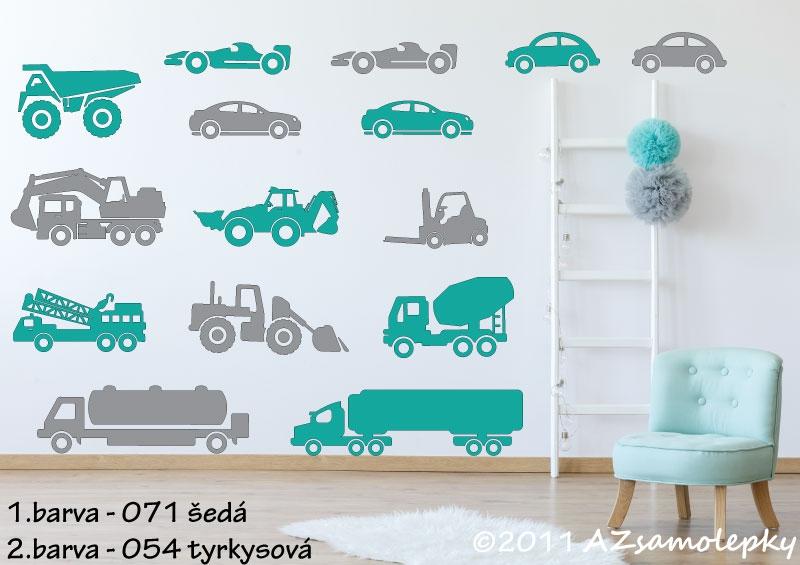 DĚTSKÉ samolepky na zeď - Dětské samolepky na zeď - Maxi - auta