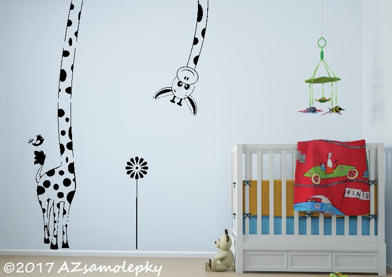 DĚTSKÉ samolepky na zeď - Dětské samolepky na zeď - Maxi - žirafa