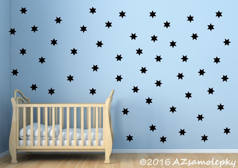 DĚTSKÉ samolepky na zeď - Dětské samolepky na zeď - Moře hvězdiček